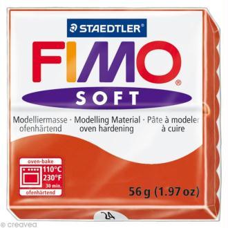 Fimo soft Rouge Indien 24 - 56 gr