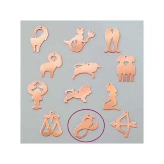 Pendentif en cuivre Scorpion signe astrologique , 33 x 21 mm, ébauche émaillage froid Efcolor