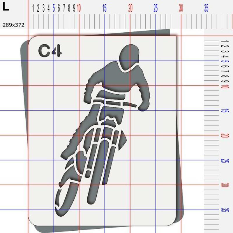 Pochoir moto cross - Photo n°5