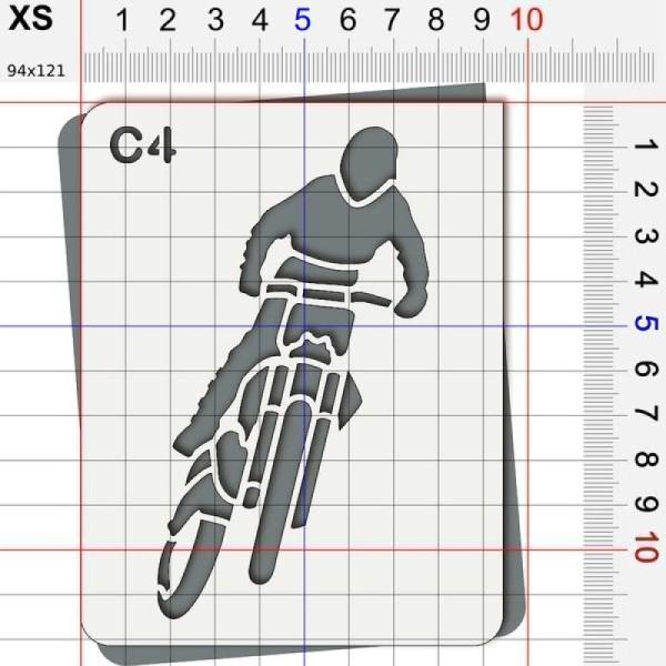 Pochoir moto cross - Photo n°2