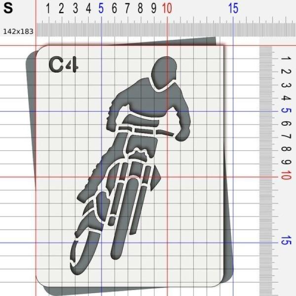 Pochoir moto cross - Photo n°3