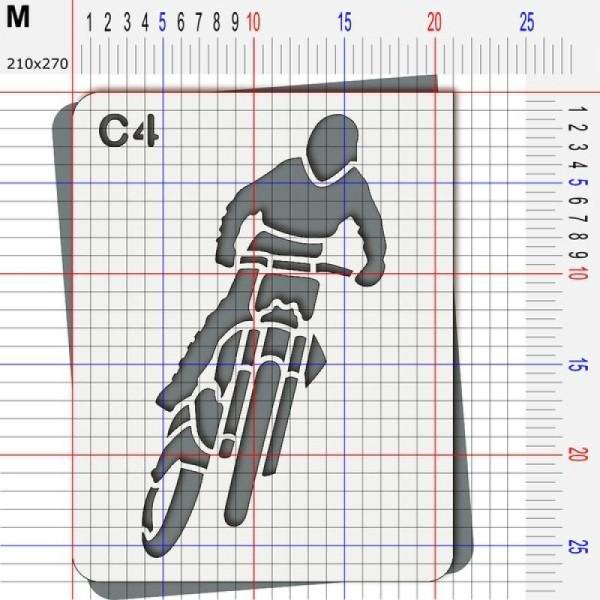Pochoir moto cross - Photo n°4