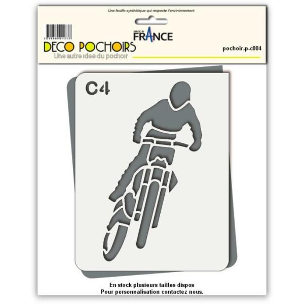 Pochoir moto cross - Photo n°1