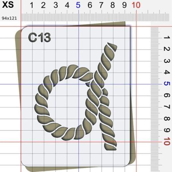 Pochoir corde - 4 tailles disponibles - Photo n°2