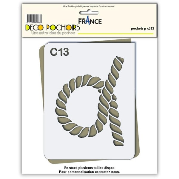 Pochoir corde - 4 tailles disponibles - Photo n°1