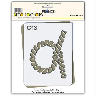 Pochoir corde - 4 tailles disponibles