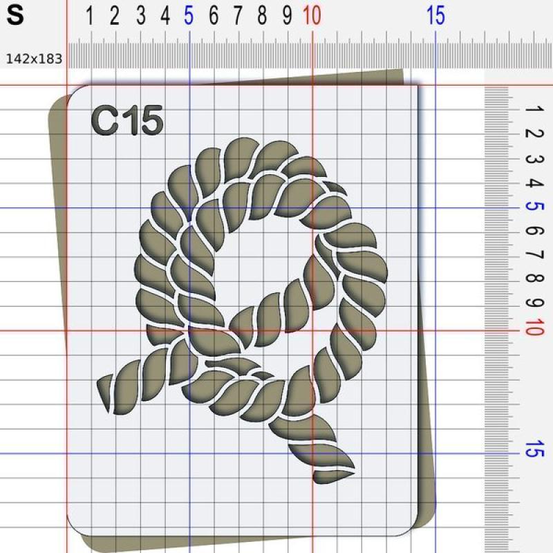 Pochoir corde - 4 tailles disponibles - Photo n°3