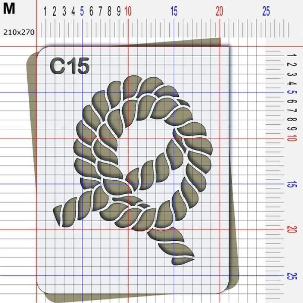 Pochoir corde - 4 tailles disponibles - Photo n°4
