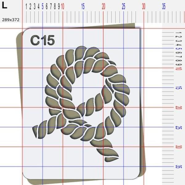 Pochoir corde - 4 tailles disponibles - Photo n°5