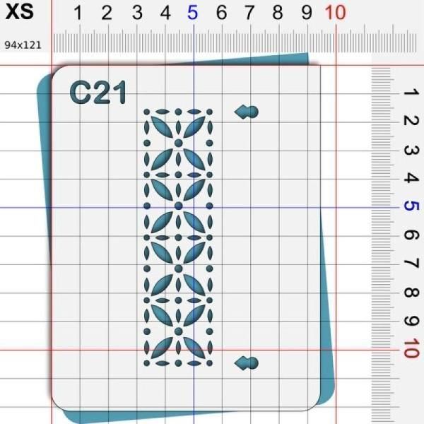 Pochoir géométrique - 4 tailles disponibles - Photo n°2