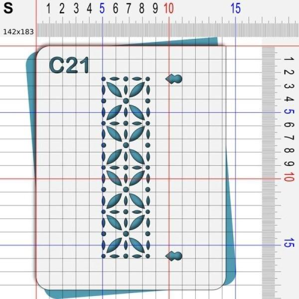 Pochoir géométrique - 4 tailles disponibles - Photo n°3