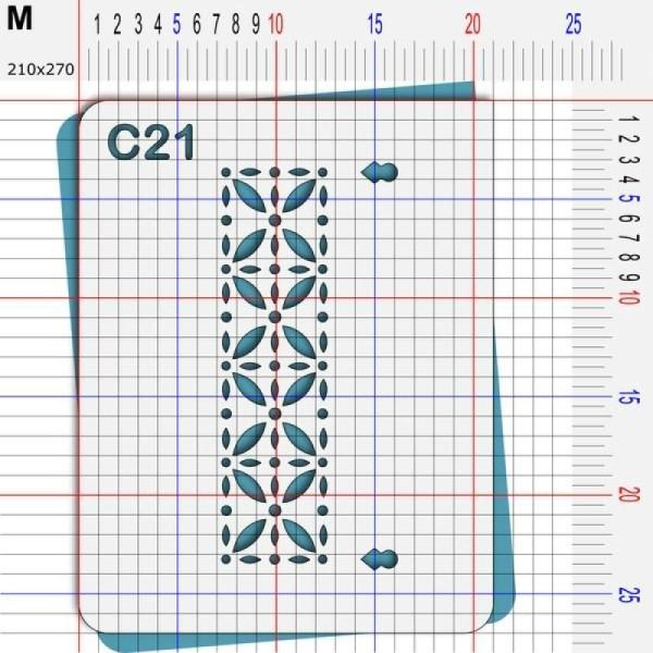Pochoir géométrique - 4 tailles disponibles - Photo n°4