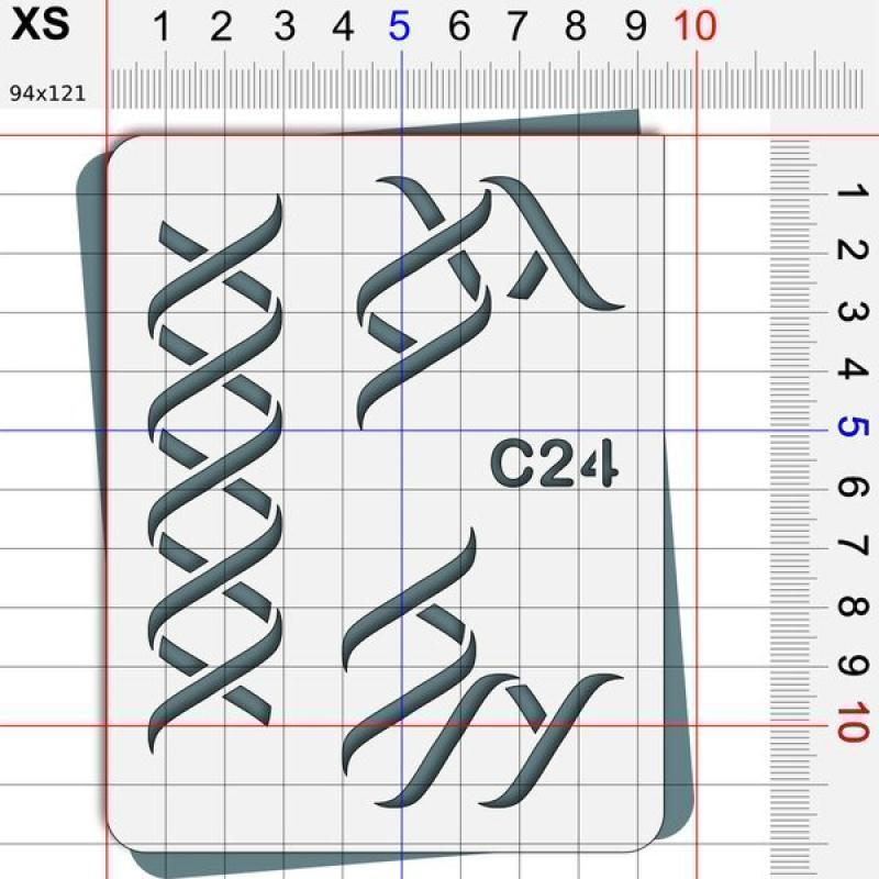 Pochoir ruban - 4 tailles disponibles - Photo n°2