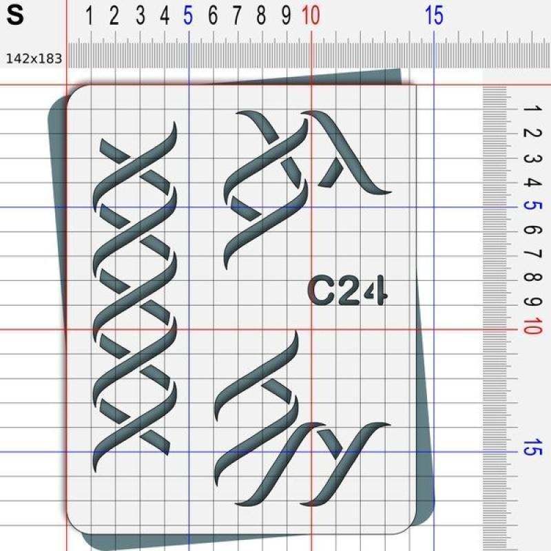 Pochoir ruban - 4 tailles disponibles - Photo n°3
