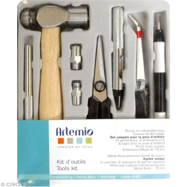 Kit d'outils de base pour loisirs créatifs - Photo n°1