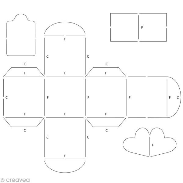 Gabarit Artecut Boîte cube - Photo n°1