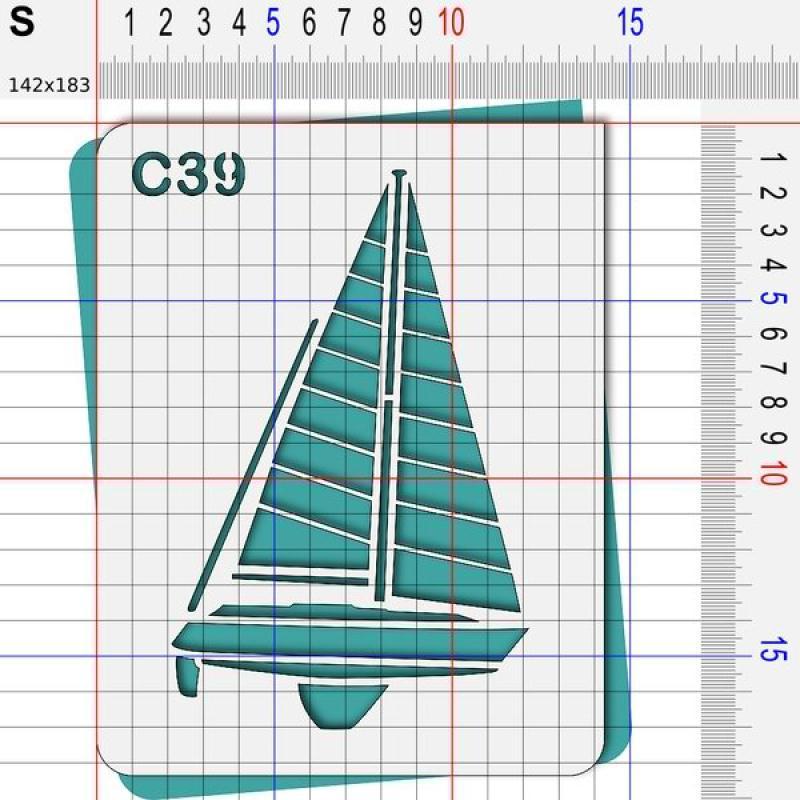 Pochoir mer- 4 tailles au choix - Photo n°3