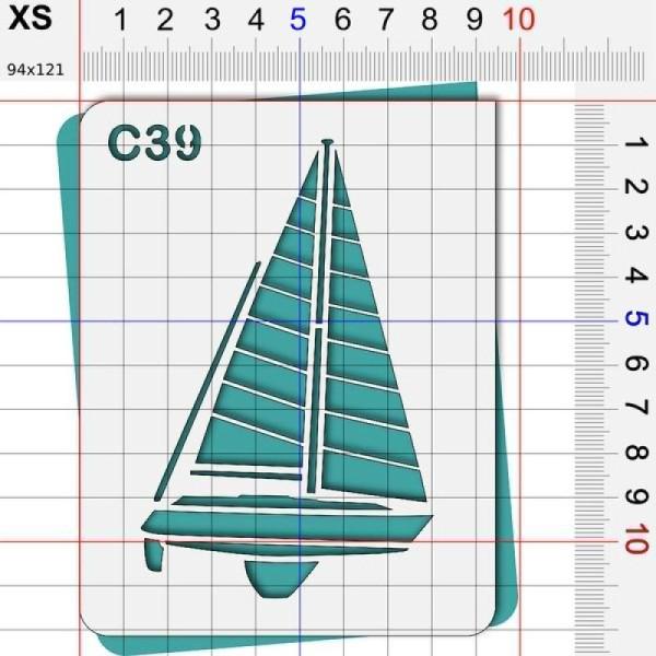 Pochoir mer- 4 tailles au choix - Photo n°2