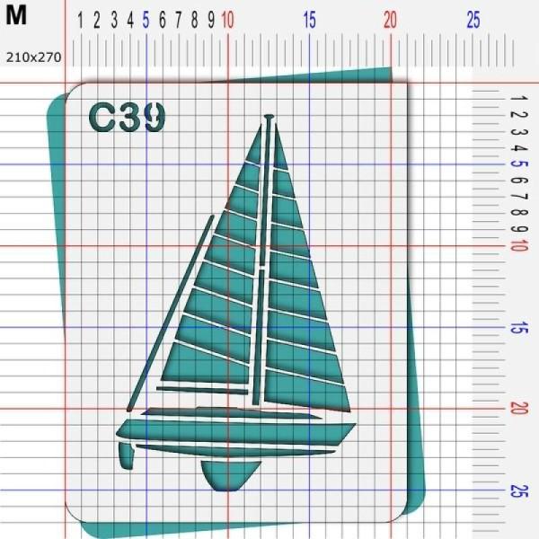 Pochoir mer- 4 tailles au choix - Photo n°4