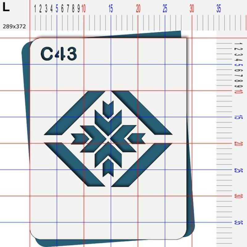 Pochoir g om trique 4 tailles au choix pochoir divers for Pochoir geometrique