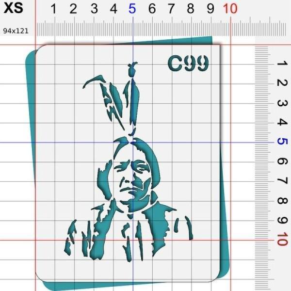 Pochoir chef chef indien Cochise Sitting Bull - 4 tailles au choix - Photo n°2