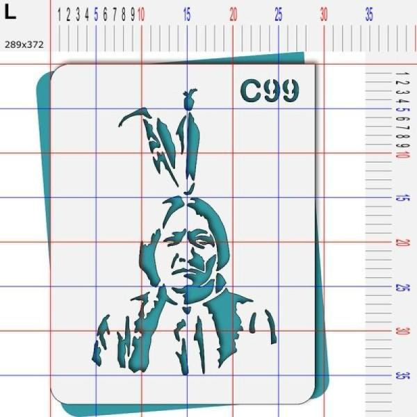 Pochoir chef chef indien Cochise Sitting Bull - 4 tailles au choix - Photo n°5