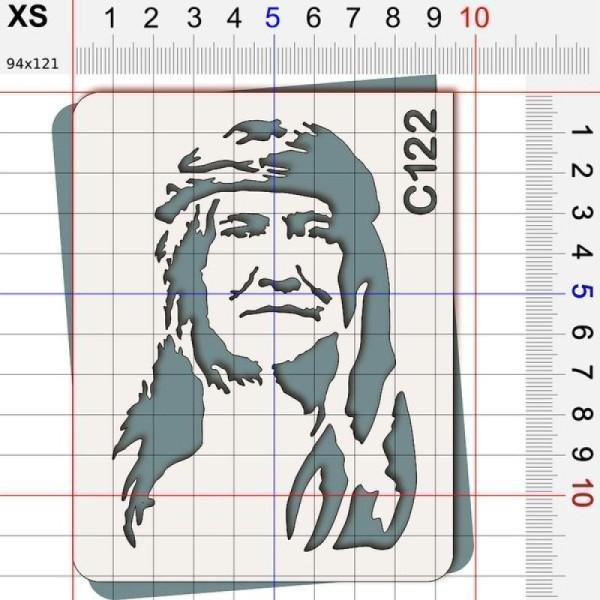 Pochoir chef indien Cochise - 4 tailles au choix - Photo n°2