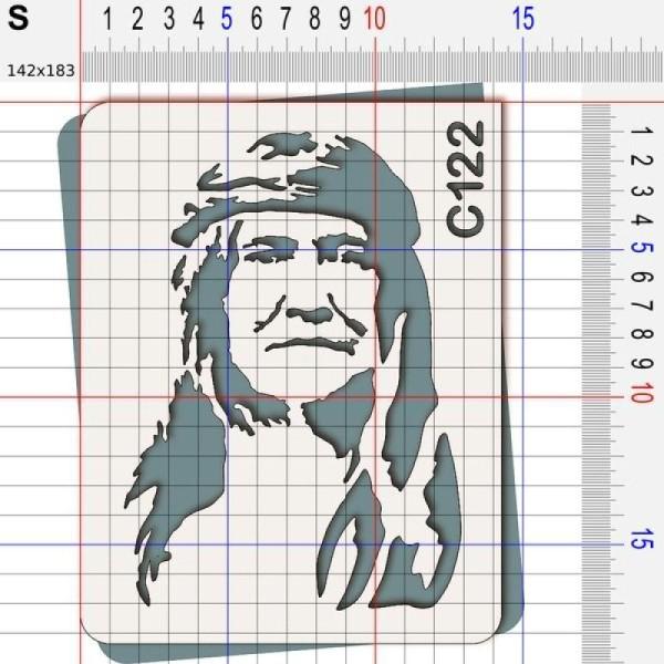 Pochoir chef indien Cochise - 4 tailles au choix - Photo n°3