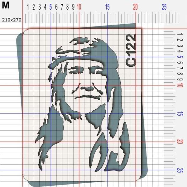 Pochoir chef indien Cochise - 4 tailles au choix - Photo n°4