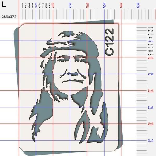 Pochoir chef indien Cochise - 4 tailles au choix - Photo n°5