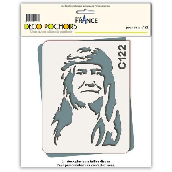 Pochoir chef indien Cochise - 4 tailles au choix - Photo n°1