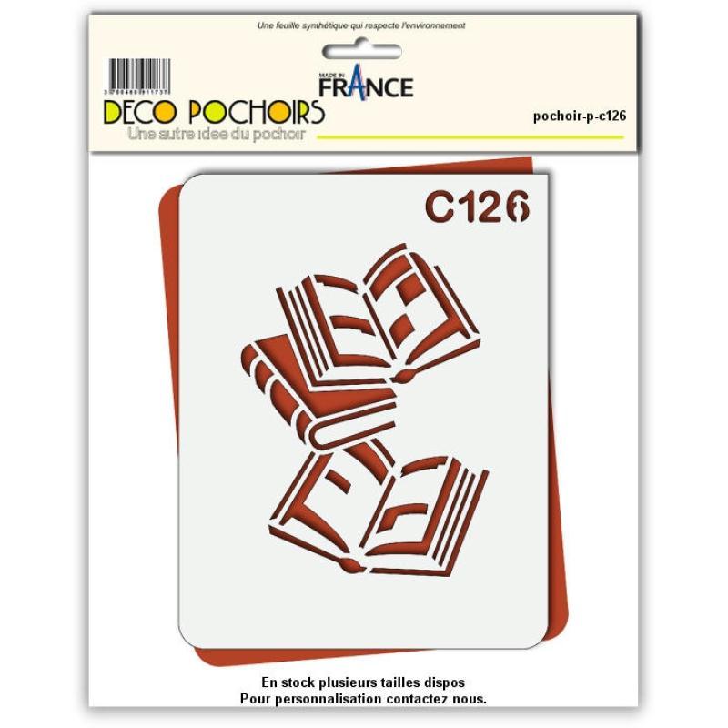 Pochoir livre - 4 tailles au choix - Photo n°1