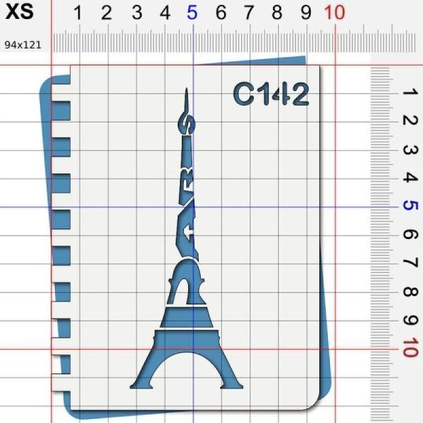 Pochoir Paris tour Eiffel - 4 tailles au choix - Photo n°2