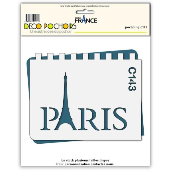 Pochoir Paris tour Eiffel - 4 tailles au choix - Photo n°1
