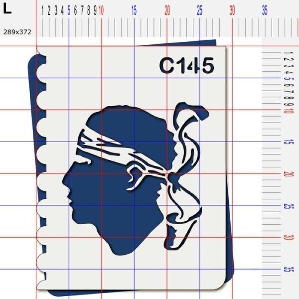 Pochoir Corse tête de maure - 4 tailles au choix - Photo n°5