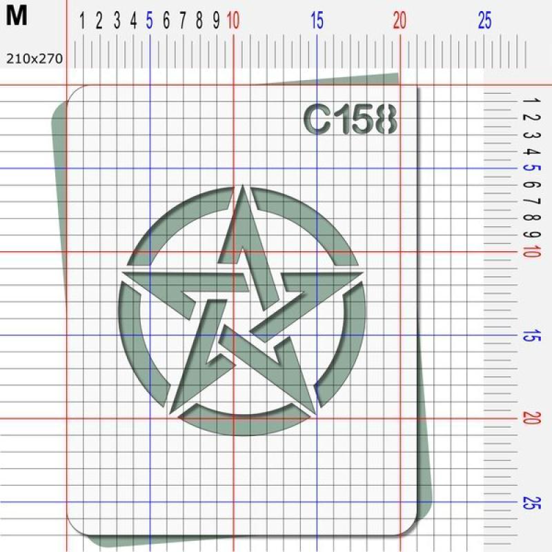 Pochoir étoile US - 4 tailles au choix - Photo n°4