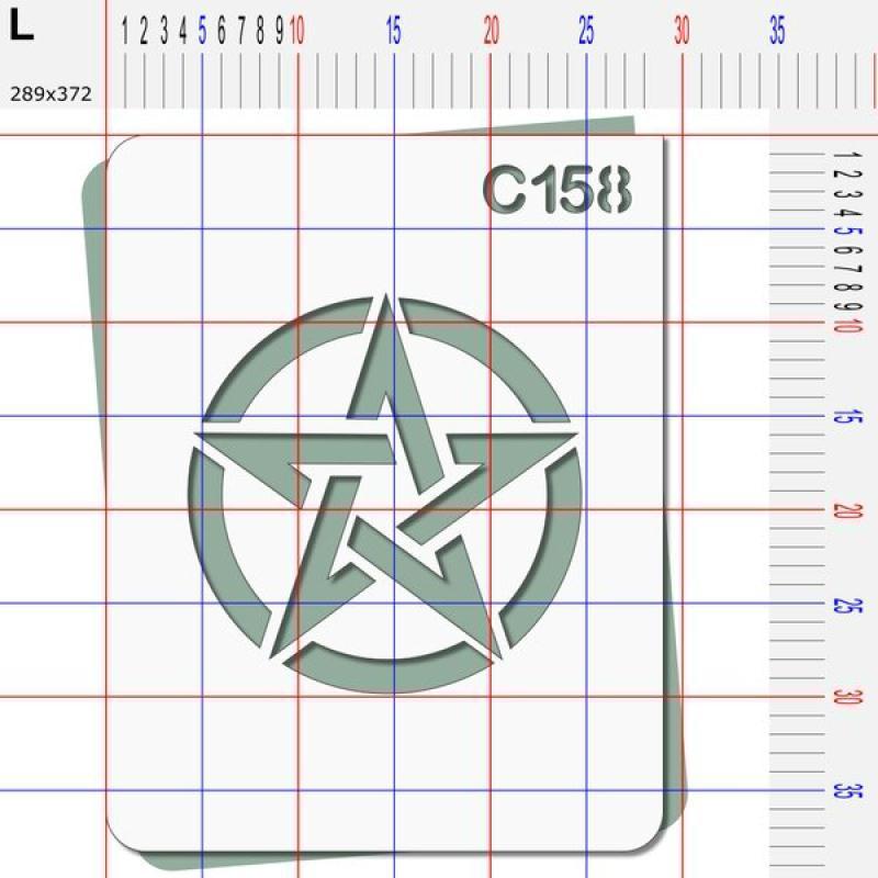 Pochoir étoile US - 4 tailles au choix - Photo n°5