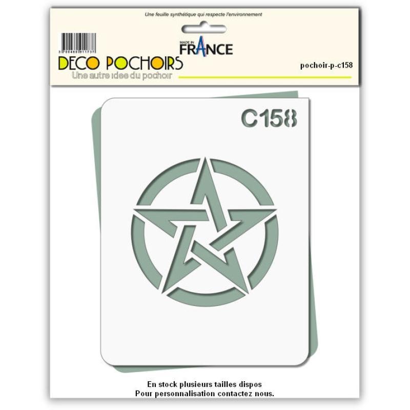 Pochoir étoile US - 4 tailles au choix - Photo n°1