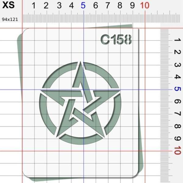 Pochoir étoile US - 4 tailles au choix - Photo n°2
