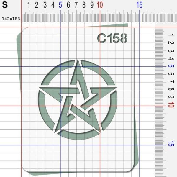 Pochoir étoile US - 4 tailles au choix - Photo n°3