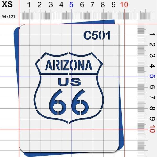 Pochoir route 66 Arizona - 4 tailles au choix - Photo n°2