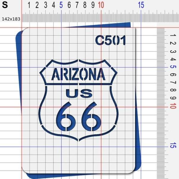 Pochoir route 66 Arizona - 4 tailles au choix - Photo n°3