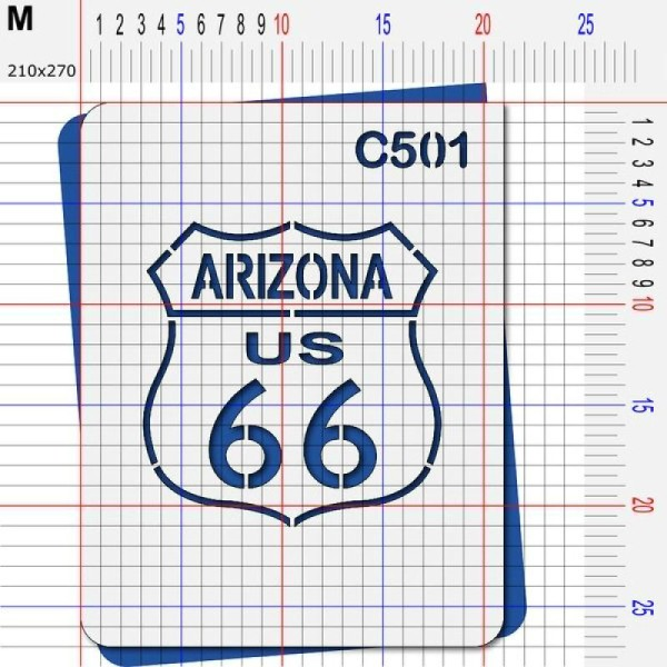 Pochoir route 66 Arizona - 4 tailles au choix - Photo n°4