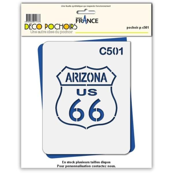 Pochoir route 66 Arizona - 4 tailles au choix - Photo n°1