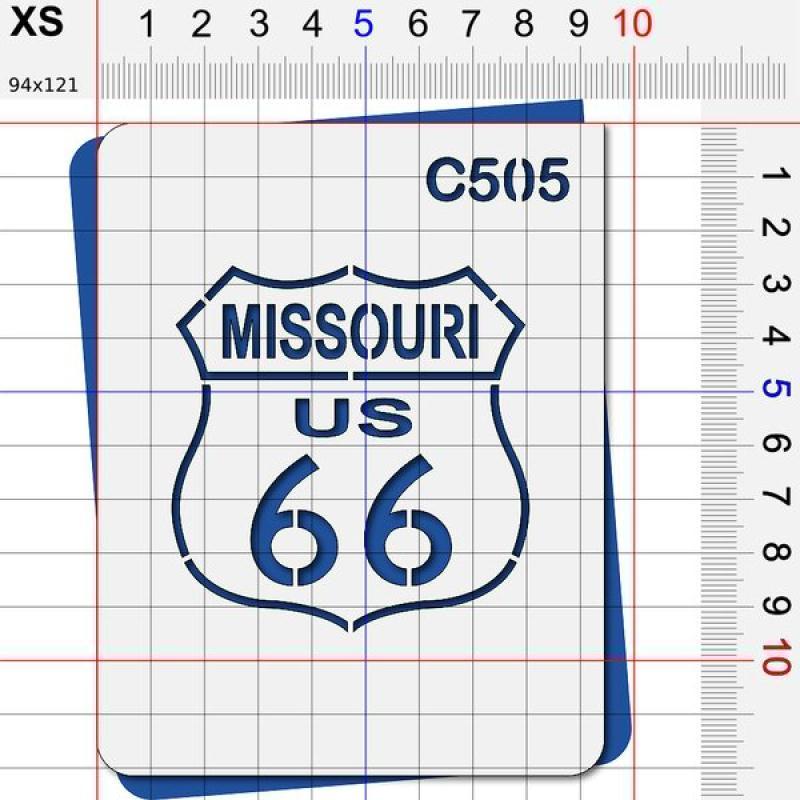 Pochoir route 66 Missouri - 4 tailles au choix - Photo n°2
