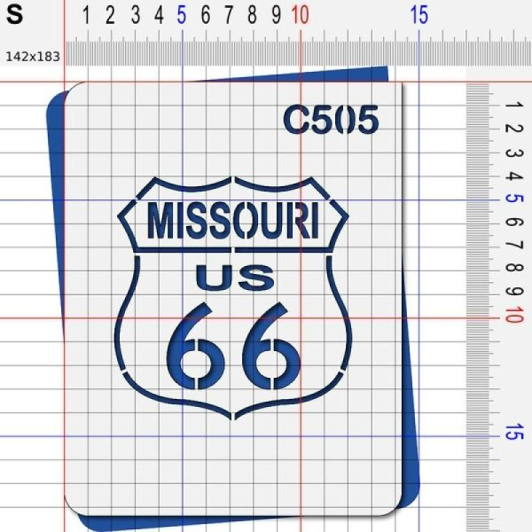Pochoir route 66 Missouri - 4 tailles au choix - Photo n°3