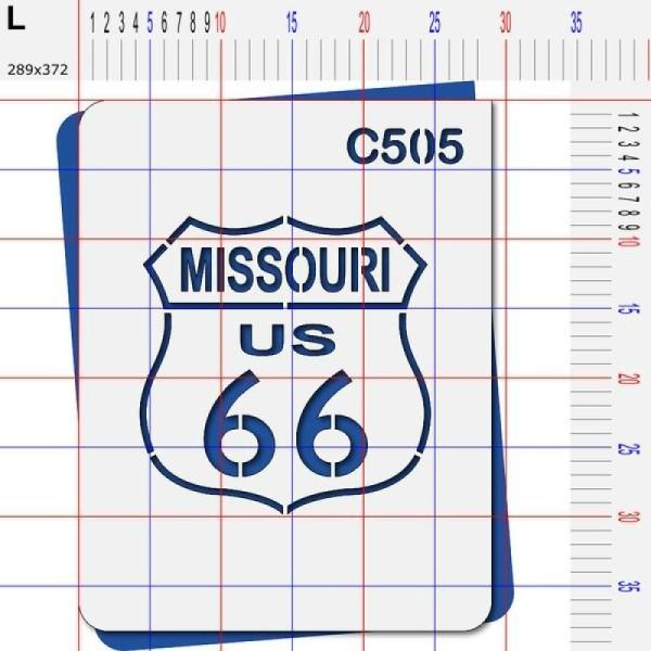 Pochoir route 66 Missouri - 4 tailles au choix - Photo n°5
