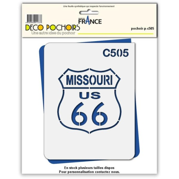 Pochoir route 66 Missouri - 4 tailles au choix - Photo n°1