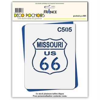 Pochoir route 66 Missouri - 4 tailles au choix