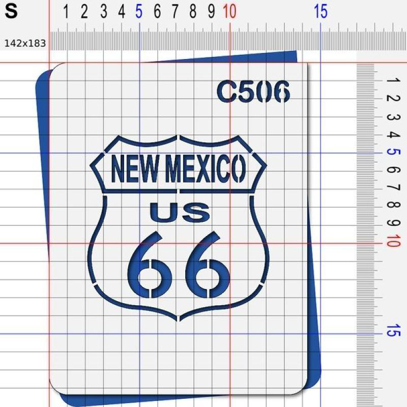 Pochoir route 66 Nouveau mexique - 4 tailles au choix - Photo n°3